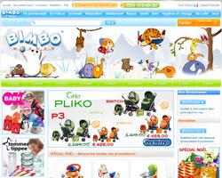 Page d'accueil de Bimbomarket
