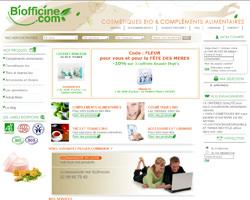 Page d'accueil de Biofficine