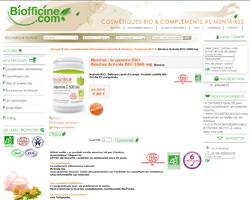 Une fiche produit de Biofficine