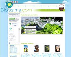 Page d'accueil de Biossima