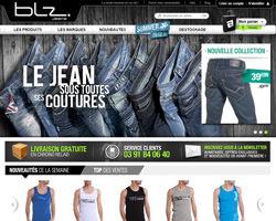 Page d'accueil de BLZ Jeans