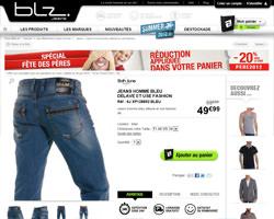 Une fiche produit de BLZ Jeans