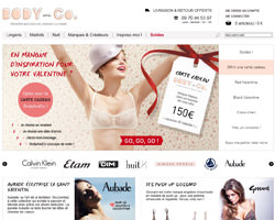 Page d'accueil de Body and Co