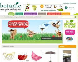Page d'accueil de Botanic