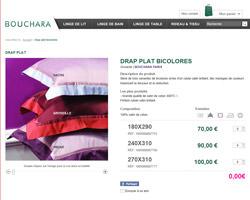 Une fiche produit de Bouchara