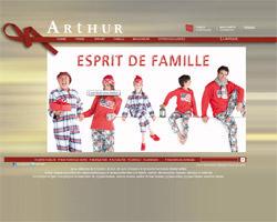 Page d'accueil de Boutique Arthur