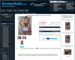 Une fiche produit de Boutique Maillot