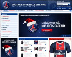 Page d'accueil de Boutique PSG