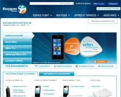 Page d'accueil de Bouygues Telecom