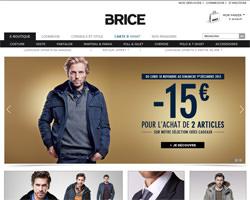 Page d'accueil de Brice