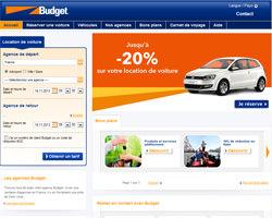 Page d'accueil de Budget