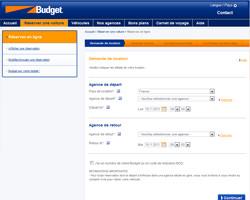 Une fiche produit de Budget