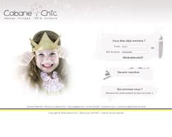 Page d'accueil de Cabane Chic