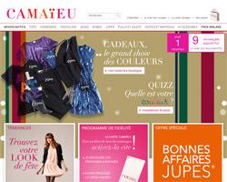 Page d'accueil de Camaïeu