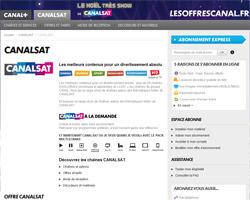 Page d'accueil de CanalSat