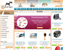 Page d'accueil de Canineo