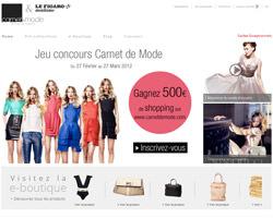 Page d'accueil de Carnet de mode