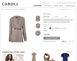 Une fiche produit de Caroll