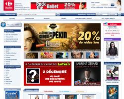 Page d'accueil de Carrefour Spectacles