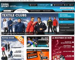 Page d'accueil de Casal Sport