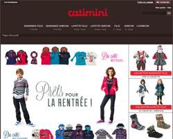 Page d'accueil de Catimini
