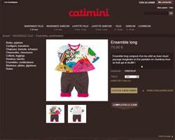 Une fiche produit de Catimini