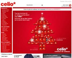 Page d'accueil de celio