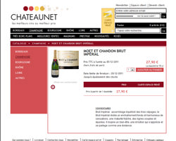 Une fiche produit de ChateauNET