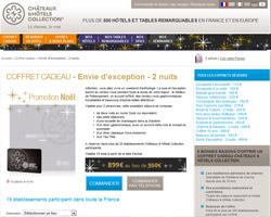 Une fiche produit de Châteaux & Hôtels Collection