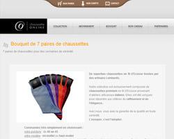 Une fiche produit de Chaussette On Line