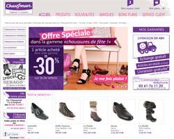 Page d'accueil de Chaussmart
