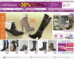 Page d'accueil de Chaussures Desmazieres