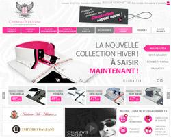 Page d'accueil de Chemise web
