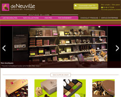 Page d'accueil de Chocolat Deneuville