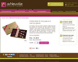 Une fiche produit de Chocolat Deneuville