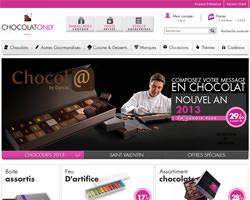 Page d'accueil de Chocolat Only