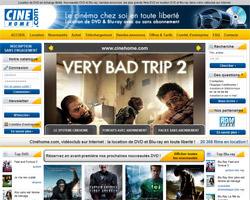 Page d'accueil de Cine Home