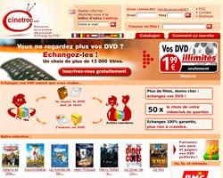 Page d'accueil de Cinetroc