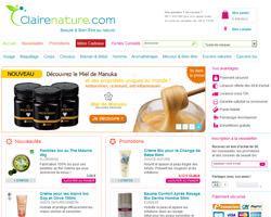 Page d'accueil de Claire Nature