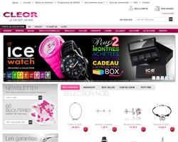 Page d'accueil de Cleor