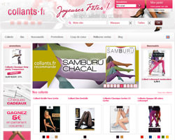 Page d'accueil de Collants