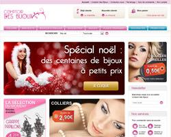 Page d'accueil de Comptoir des Bijoux