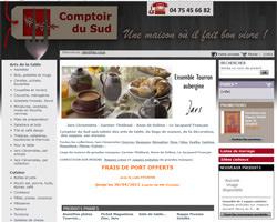 Page d'accueil de Comptoir du sud