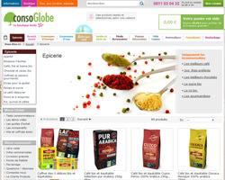 Page d'accueil de ConsoGlobe