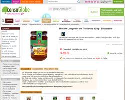 Une fiche produit de ConsoGlobe