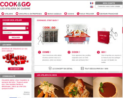 Page d'accueil de Cook and Go