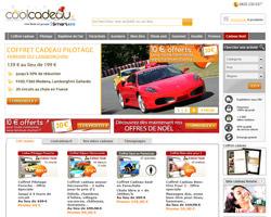 Page d'accueil de Coolcadeau