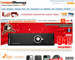 Page d'accueil de Coque Discount