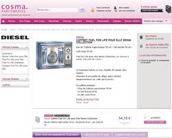 Une fiche produit de Cosma Parfumeries