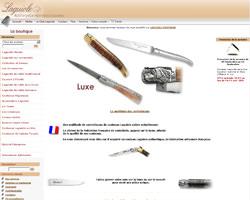Page d'accueil de Couteau Laguiole